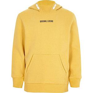 Gele hoodie met 'legend'-print voor jongens