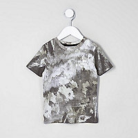 Mini boys camo smudge print T-shirt