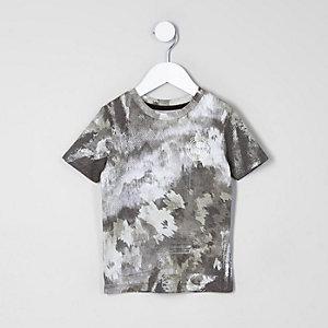 Mini - T-shirt met camouflage- en vlekkenprint voor jongens
