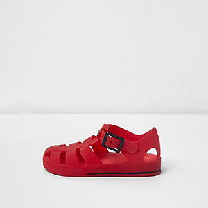 Rote Jelly-Sandalen