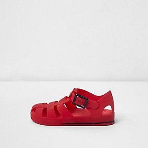 Sandales en plastique effet cage rouges mini garçon