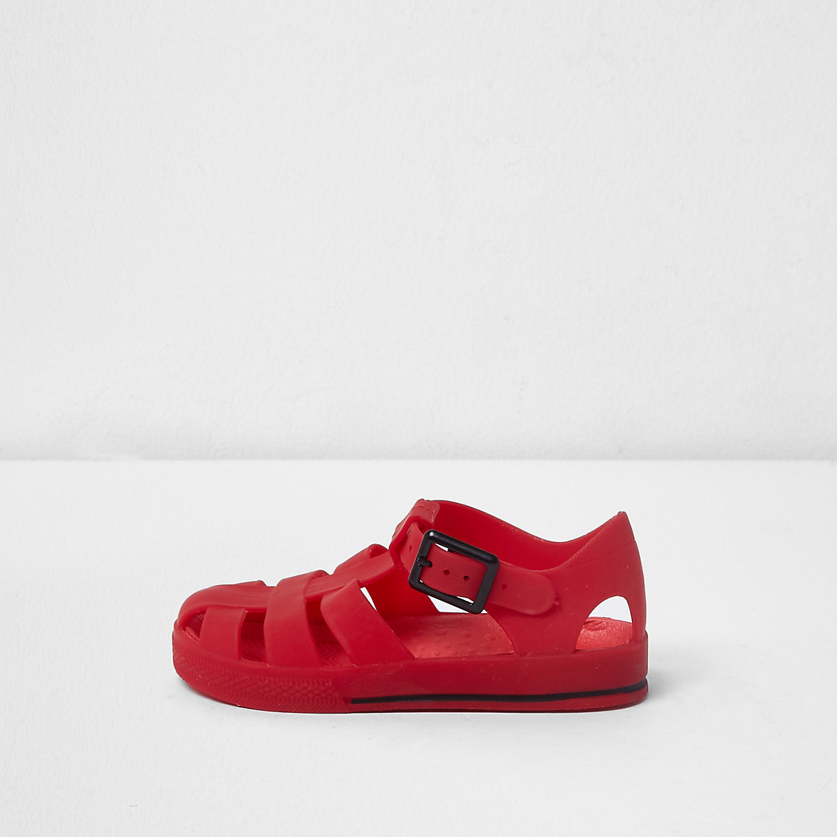 Mini kids red jelly cage sandals