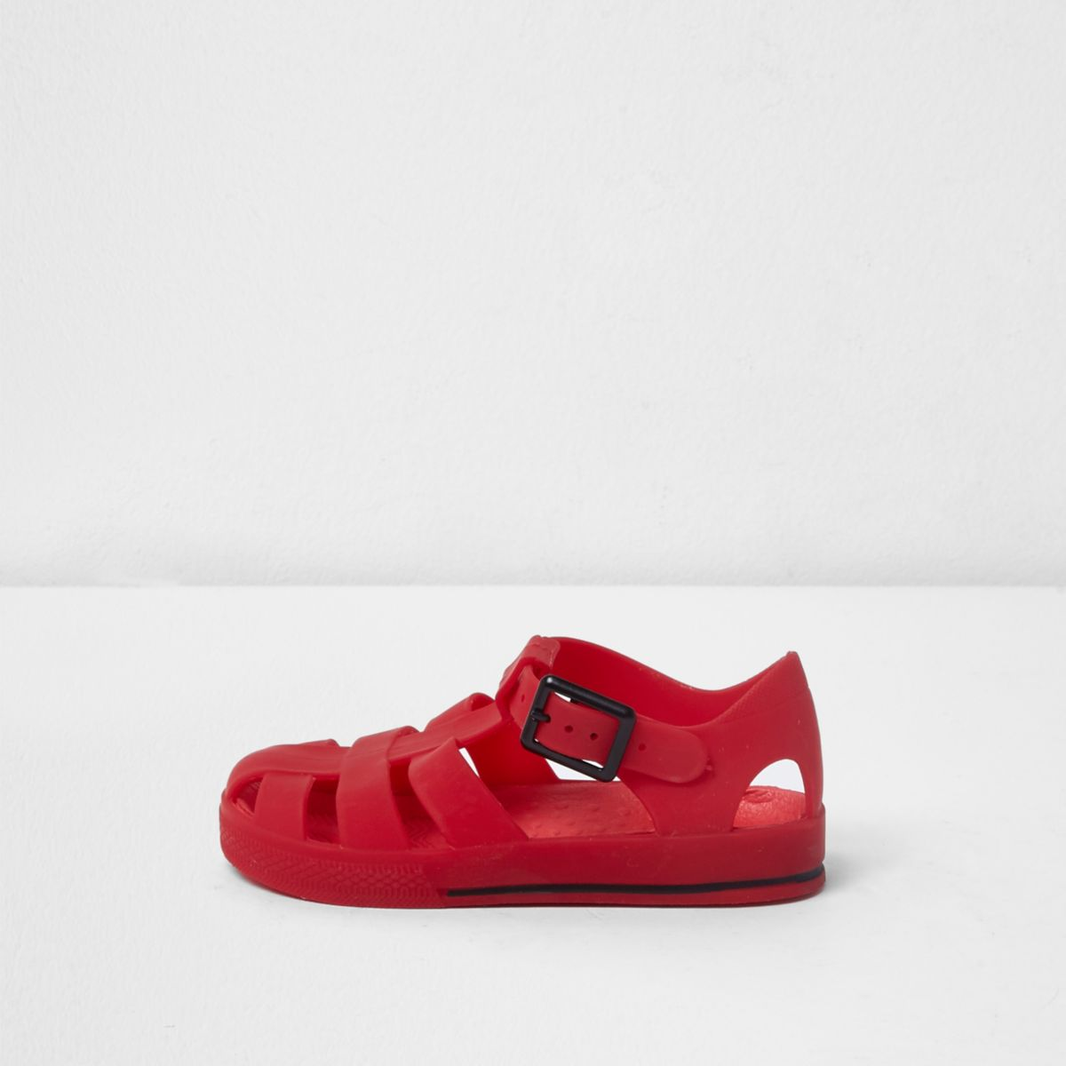 Mini boys red jelly cage sandals