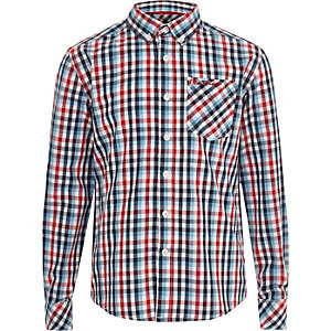 Boys red Ben Sherman check shirt