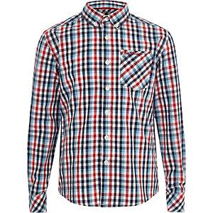Ben Sherman – Chemise à carreaux rouge pour garçon