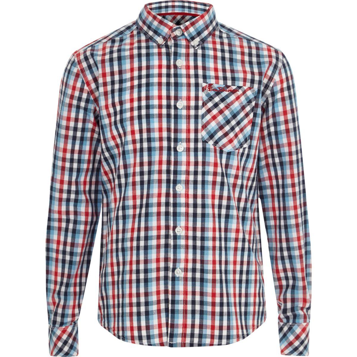 Boys red Ben Sherman check shirt