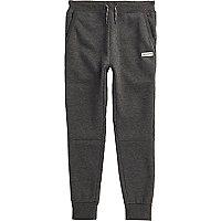 Boys dark grey Converse joggers