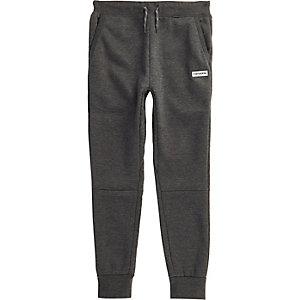 Converse – Pantalon de jogging gris foncé pour garçon
