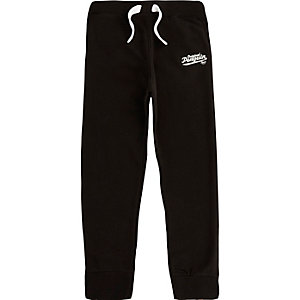 Boys black Original Penguin joggers