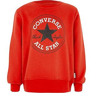 Converse - Rood sweatshirt met print voor jongens