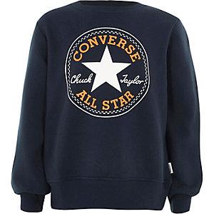 Boys navy Converse print sweatshirt