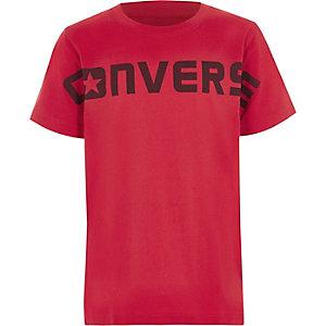 Converse - Rood T-shirt met print voor jongens