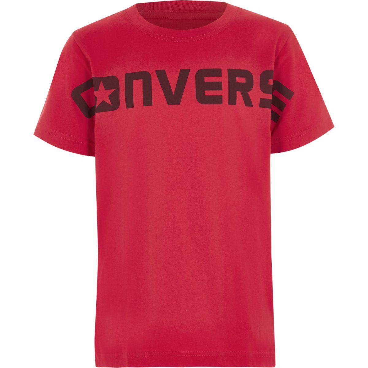 Converse – T-shirt imprimé rouge pour garçon