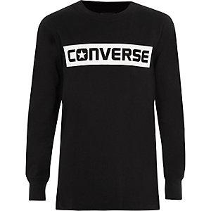 Boys black Converse print T-shirt