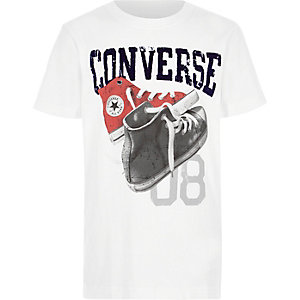 Boys white Converse sneakers print T-shirt