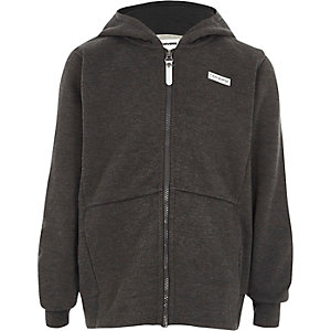 Boys grey Converse zip up hoodie