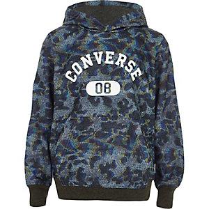Boys khaki Converse animal print hoodie