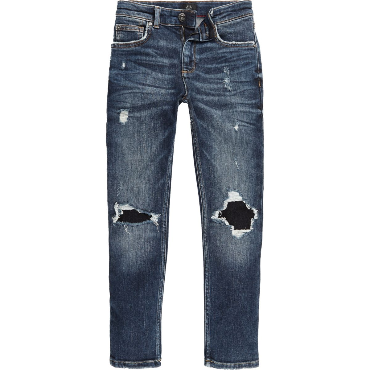 Boys blue ripped knee Sid skinny jeans - Denim - Sale - boys