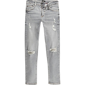 Sid – Graue Skinny Jeans im Used-Look