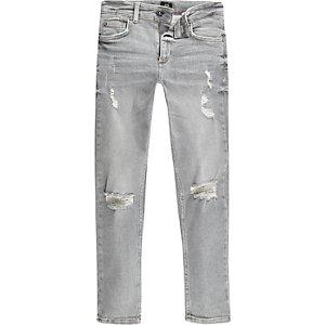 Sid – Jean skinny gris déchiré pour garçon