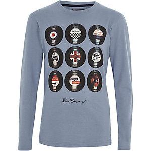 Boys blue Ben Sherman vinyl T-shirt