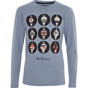 Ben Sherman - Blauw vinyl T-shirt voor jongens