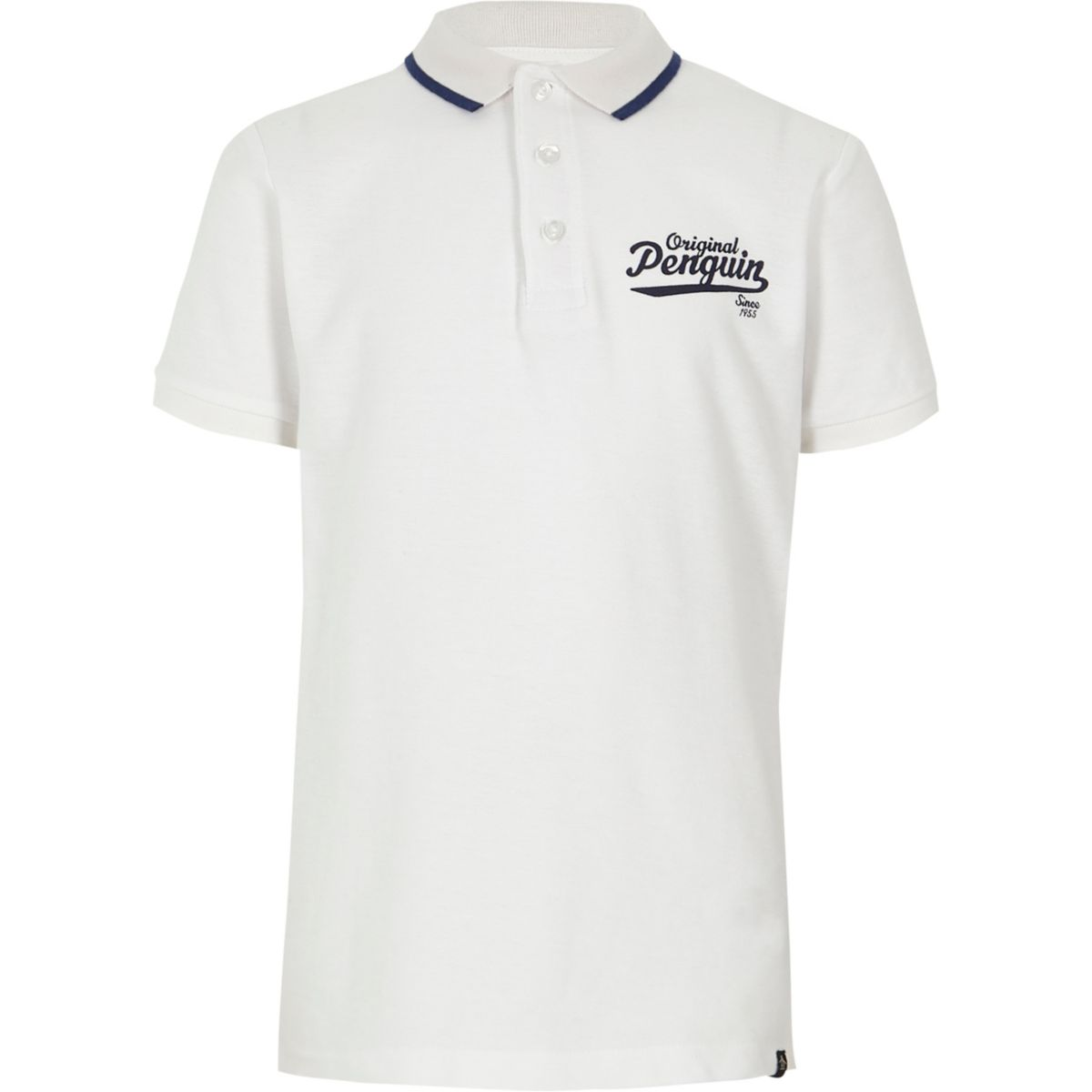 Boys white Original Penguin polo shirt