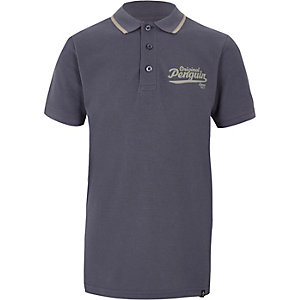 Boys navy Original Penguin polo shirt