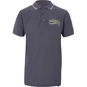 Boys navy Original Penguin polo shirt