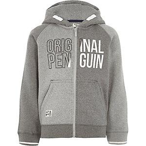 Original Penguin - Grijze hoodie met kleurvlakken voor jongens