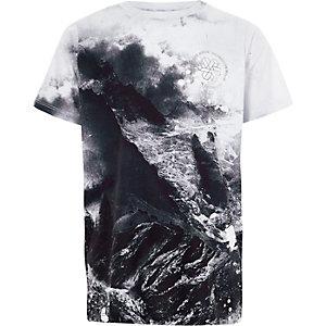 Blauw T-shirt met winterprint voor jongens
