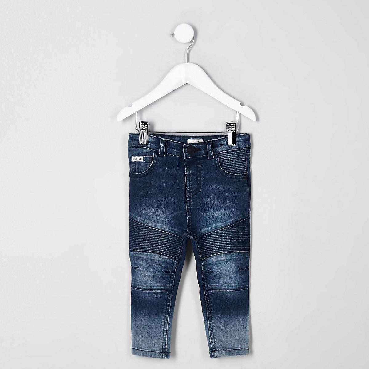 Mini boys blue Sid skinny biker jeans