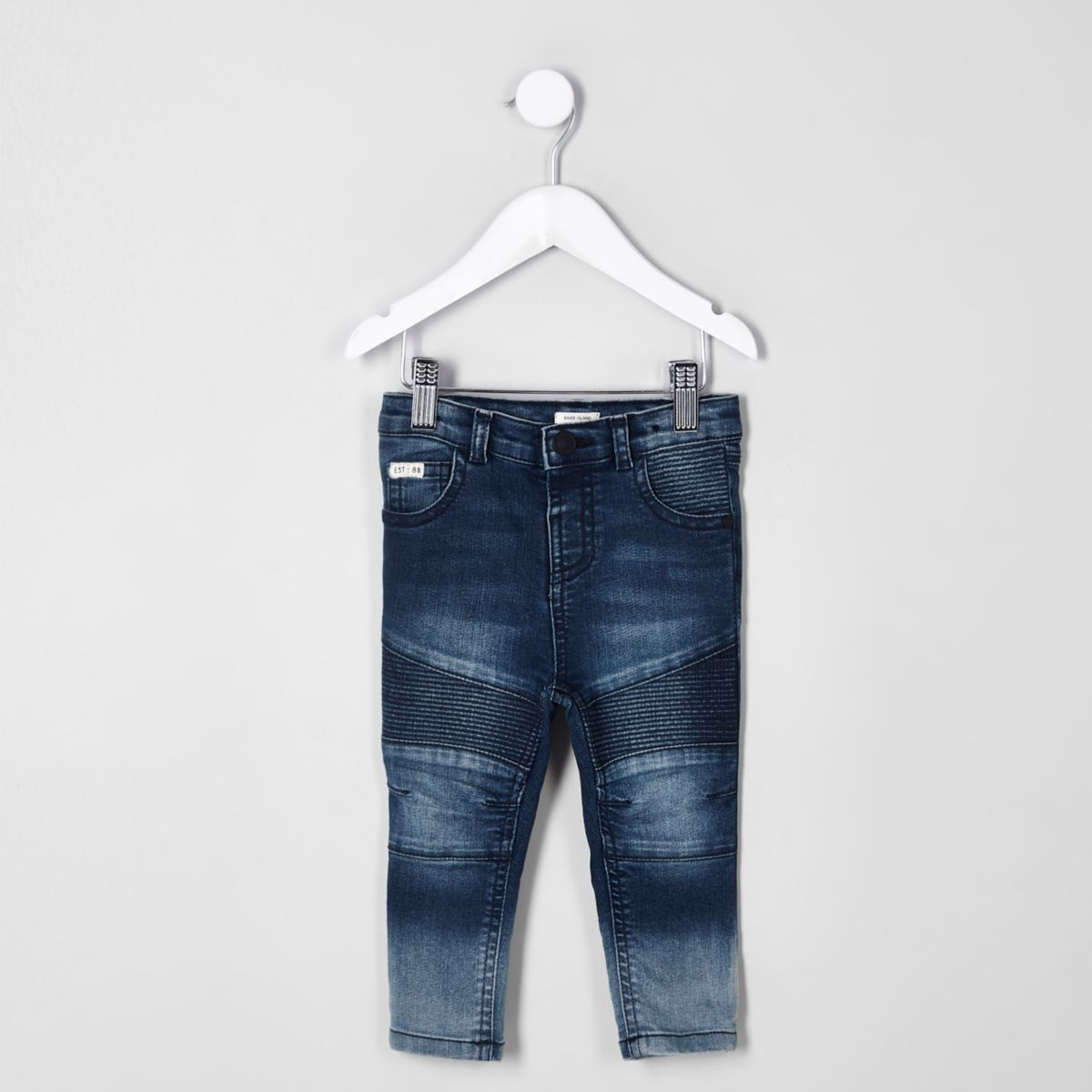 Mini boys blue Sid skinny biker jeans