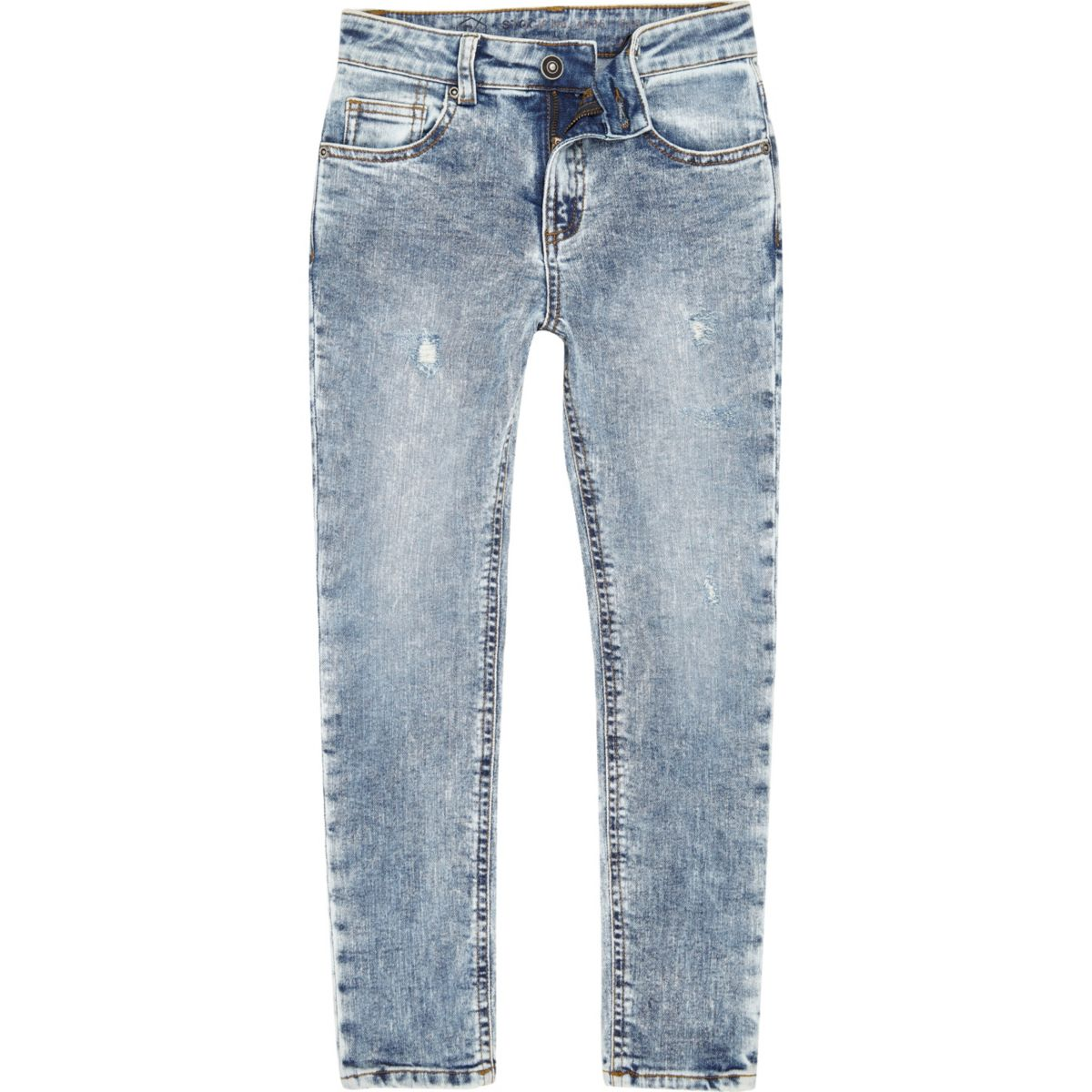 Boys blue Sid acid wash skinny jeans