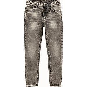 Sid - Zwarte acid wash skinny jeans voor jongens