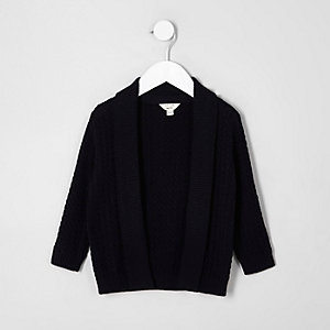 Mini boys cable knit cardigan