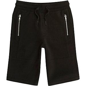 Zwarte short met zakken met rits voor jongens