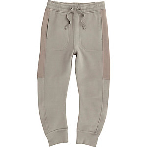 Boys grey mesh side joggers