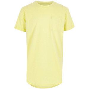 Lichtgeel lang T-shirt voor jongens