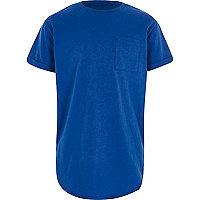 T-shirt bleu à ourlet arrondi pour garçon