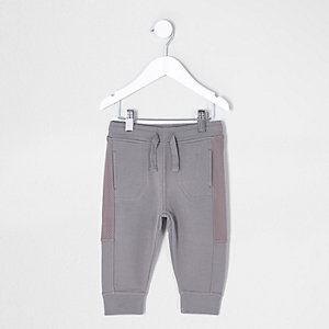 Mini boys khaki mesh panel joggers