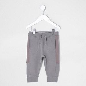 Pantalon de jogging kaki avec empiècements en maille mini garçon
