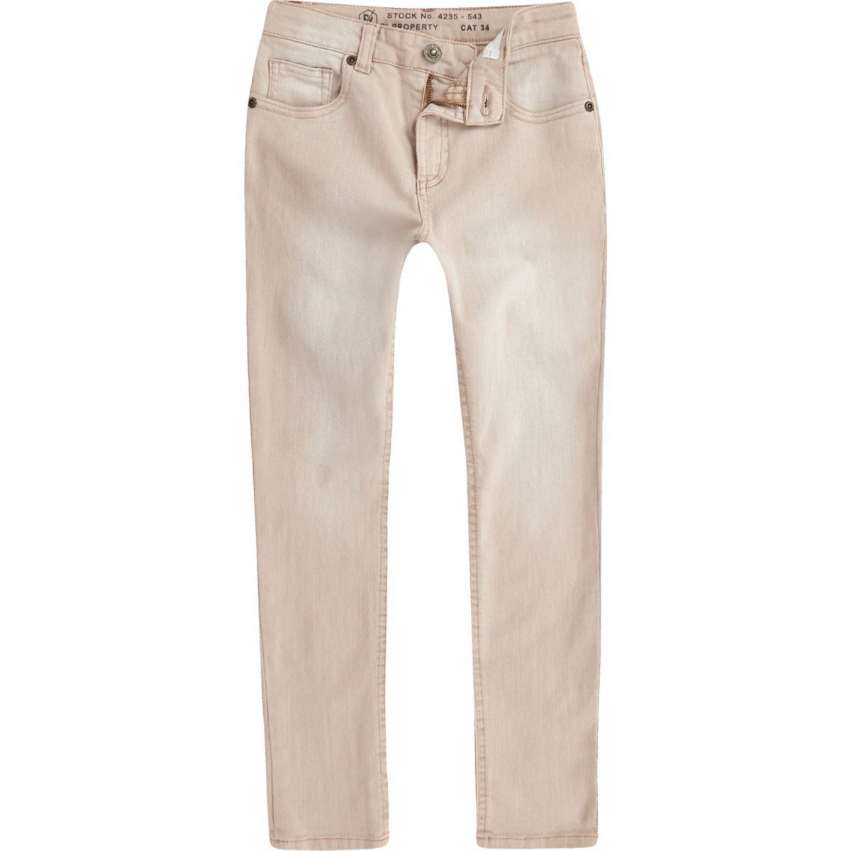Boys pale pink Sid skinny jeans