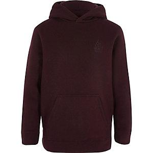 Bordeauxrode hoodie voor jongens