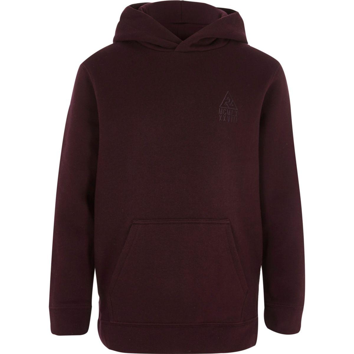 Boys burgundy hoodie