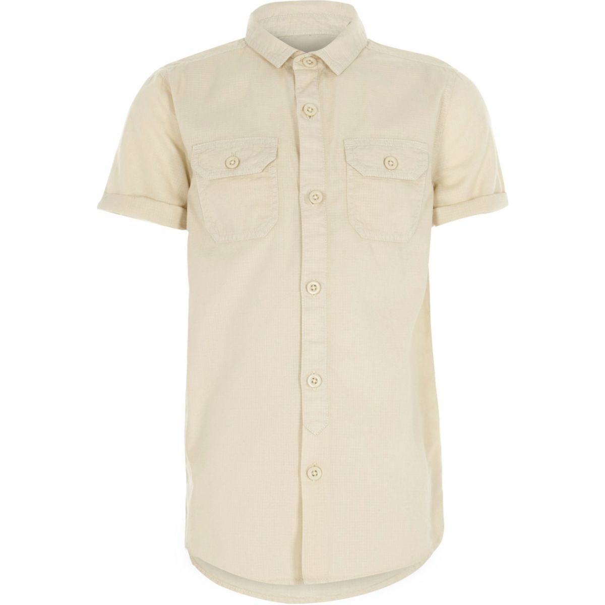 Boys stone short sleeve utility shirt