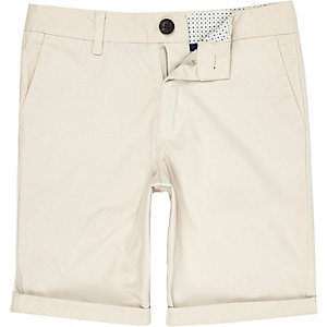 Dylan – Steingraue Slim Fit Chino-Shorts