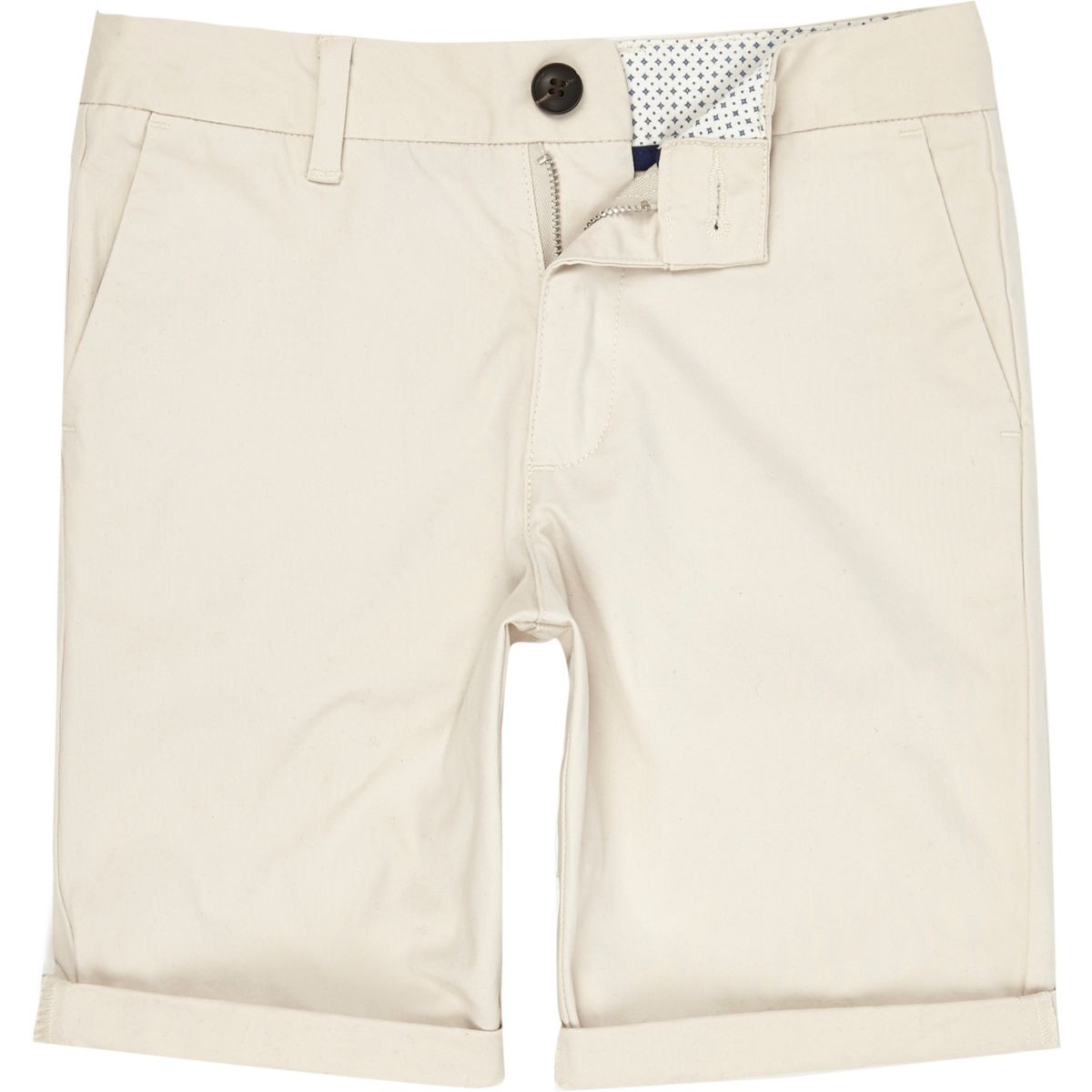 Boys stone Dylan slim fit chino shorts