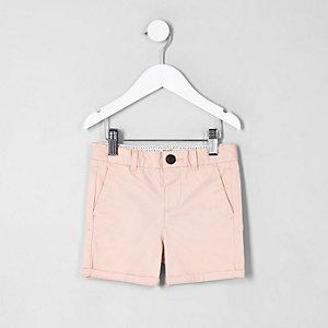 Mini - Roze chinoshort voor jongens