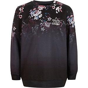 Boys floral fade 'Brklyn' print sweatshirt